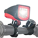 NOVSIGHT Bike Headlight with RF Remote Control 1600 Lumens Rechargeable Bicycle Headlight with...