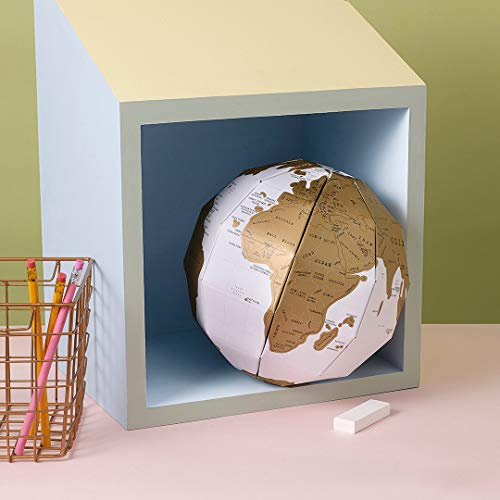 3D World Scratch Globe Map by Luckies of London