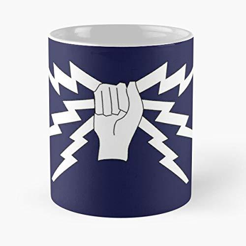 For RAF Cushions/Mugs/Clocks Sparks Fist and Taza de café con Leche 11 oz