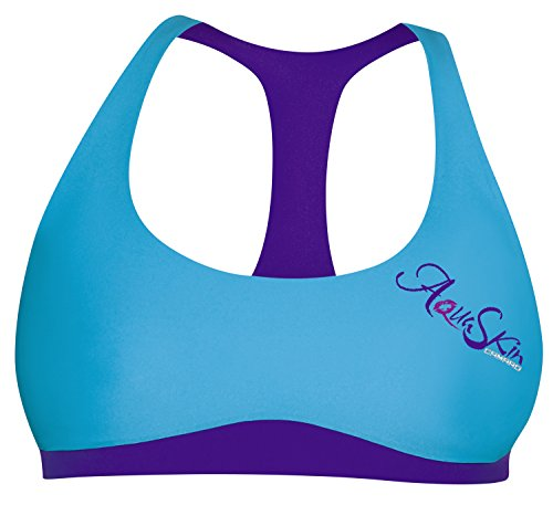 Camaro Bikini Top Aqua Skin - Parte de Arriba de Bikini para Mujer, Color Azul, Talla XS