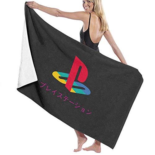 N\ Toalla de baño Playstation Vaporwave Logo Toalla de playa de secado rápido
