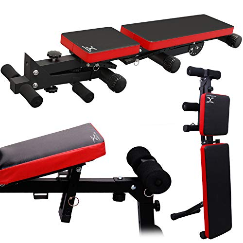 Max Strength Adjustable Weight Lifting Utility Bench - (Flat, Incline And Decline Bench Press)