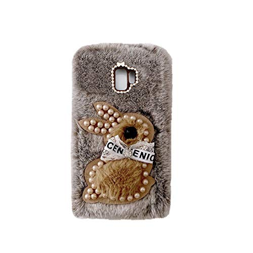 YHY Samsung C9 Estuche Teléfono Móvil Estilo Lindo 3D Perla Linda Peluche De Conejo para Samsung Galaxy C9 Marrón