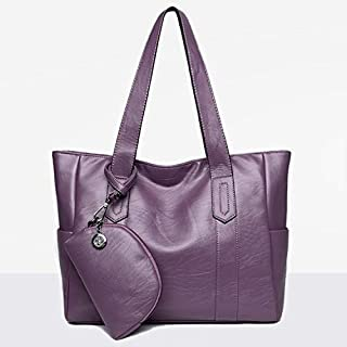 WTYD Single Shoulder Bag Leisure Fashion Shoulder Bag Handbag, with Wallet (Black) (Color : Purple)