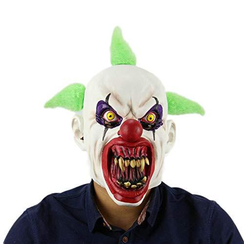 MYASOB Kostüm Kopf Maske Cosplay Blut Mouth Clown Maske Halloween Horror Kopf Maske Latexmasken Grimasse V Partei-Schablonen Persönlichkeit (Color : Milky)