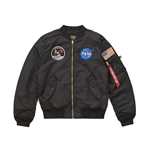 Alpha Industries L-2B Apollo Bomber Jacket, Black Size L