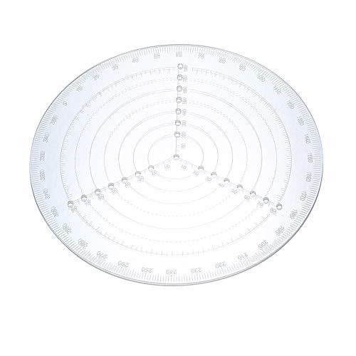 KKmoon Runder Zentrierungsmesser für Drehmaschine, Kreisdurchmesser zum Zeichnen von Kreisen, Holzdrehmaschine, Arbeitswerkzeug