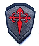 NATO JSOC Seal ODA SAS JTF2 KSK SP OPS Crusader DD SSI St. James Warrior's CrossMilitary Patch Fabric Embroidered Badges Patch Tactical Stickers for Clothes with Hook & Loop (color1)