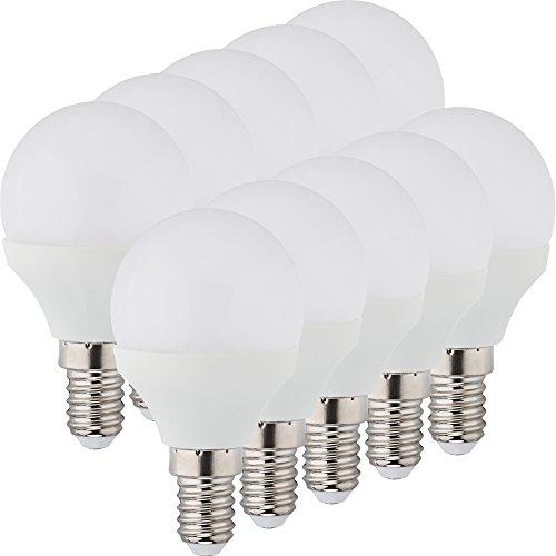 MÜLLER-LICHT 400037 A+, 10er-Set LED Lampe Tropfenform Essentials Ersetzt 25 W, Plastik, 3 watts, E14, Weiß, 4.5 x 4.5 x 7.8 cm