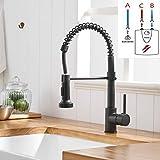 TIMACO Schwarz Niederdruck Armatur Für Küche 360° Drehbar Wasserhahn Küche