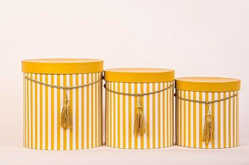 Pack de 3 cajas amarillas de almacenamiento