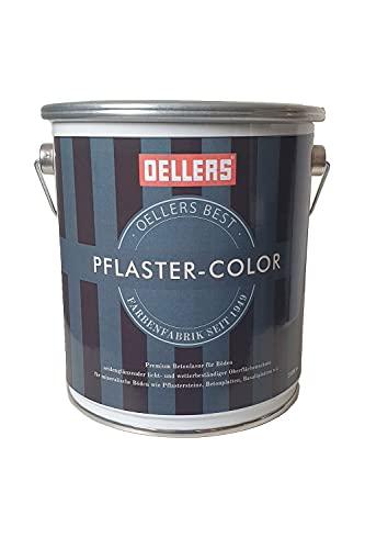 Pflaster-Color by OELLERS   Lasur für Pflastersteine, Beton und Putz   Betonfarbe (RAL 7016 Anthrazitgrau, 2,5 Liter)