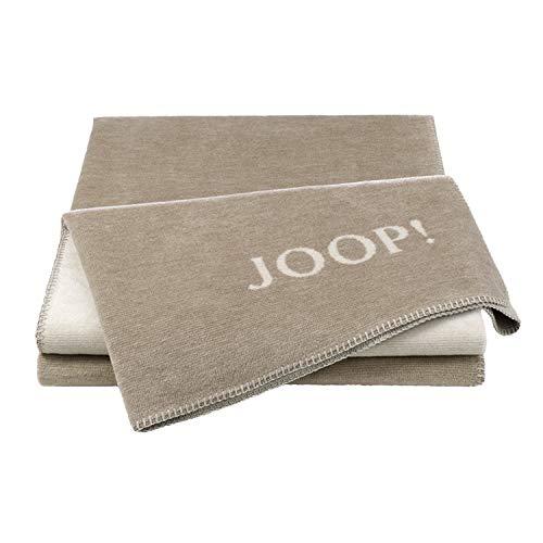 Joop! Wohndecke Melange - Doubleface Baumwollmischung Sand/Natur Größe 150x200 cm