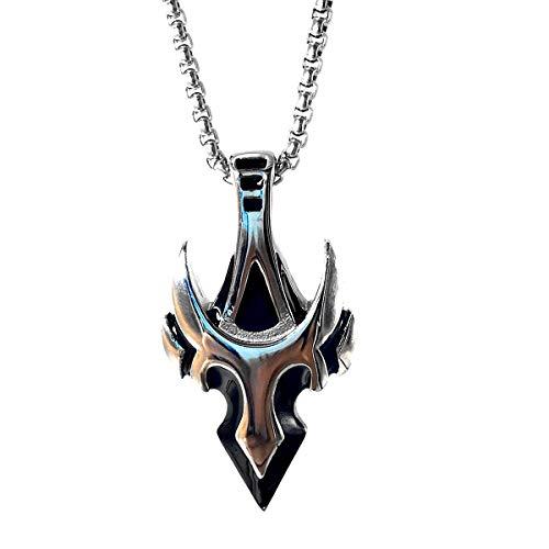 URDEAR Norse Viking Celtic Pagan Arrow Pendant Necklace Nordic Viking Amulet Pendant Necklace Jewelry Gifts for Men Women