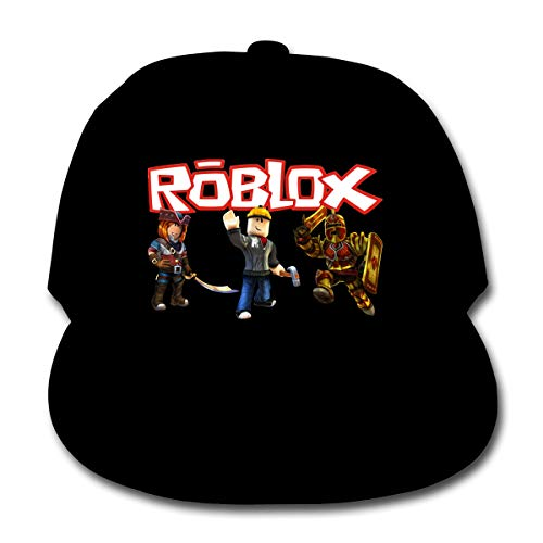 333 The Fun Ro-Blox World Baseball Grid Cap is Suitable for Children, Toddlers and Youth Black and Red
