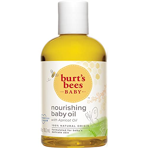 Burt's Bees Baby Nourishing Baby Oil, 100% Natural Baby Skin Care - 4 Ounce Bottle - Pack of 3