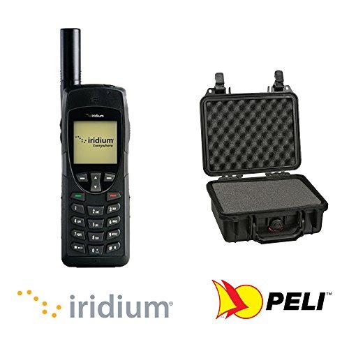 Teléfono vía satélite Iridium 9555 con 500 minutos de prepago y custodia de protección negra by GTC
