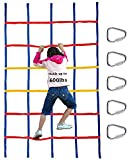 Panzexin Climbing Net for Kids Outdoor,Playground Cargo Net,Climbing Net for Swingset ,Ninja Warrior Style Obstacle Courses for Outdoor Treehouse