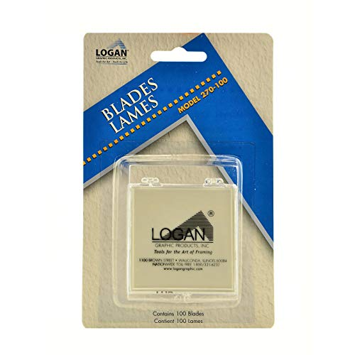 Logan Graphic Products, Inc. Mat Cutter Replacement Blades, 100-Pack (ANL270-100)