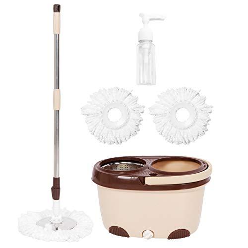 FOLOSAFENAR Juego de fregona y Cubo Juego de fregona tamaño de Cubo 9.8 x 17.5 Pulgadas para cocinas limpias para Salas de Estar para baños