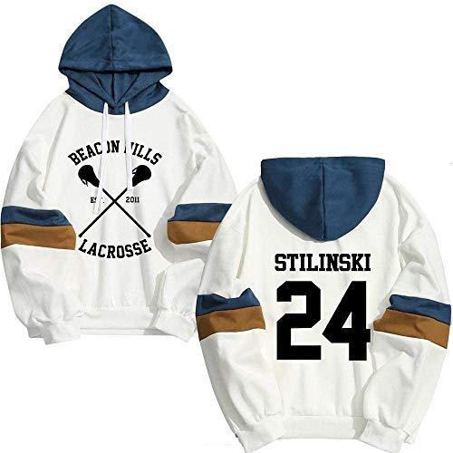 WAWNI Stilinski 24 Lahey McCall Pullover Felpa Maschio Stampa Con Cappuccio Mens Felpe Hip Hop Hoddies Streetwear Teen Lupo A XL
