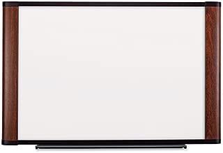 Melamine Dry Erase Board, 72 x 48, Mahogany Frame, Sold as 1 Each