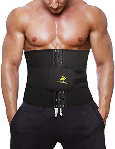 NINGMI - Bauchweggürtel für Fitnesstraining in Schwarz, Größe XXL