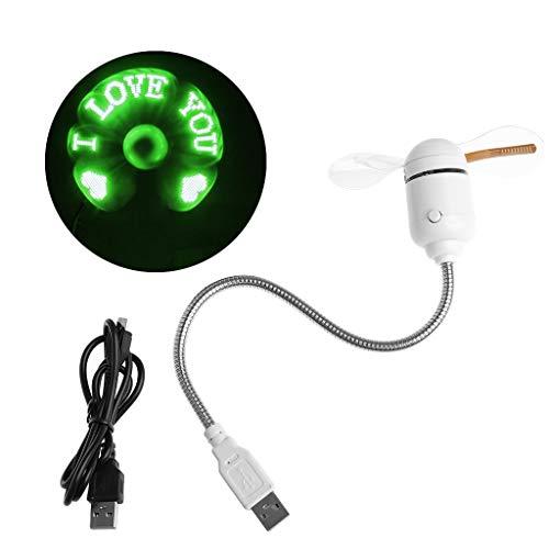 Kcibyvx - Ventilador USB con luz LED flexible para ventilador de refrigeración y programa de bricolaje