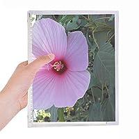 ピンクの花の自然風景 硬質プラスチックルーズリーフノートノート