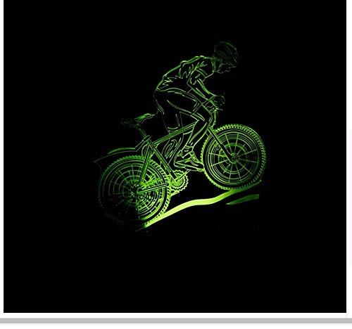 3D Bicicleta Modelado 7 Cambio De Color Usb Lámpara Ciclismo Usb Led...