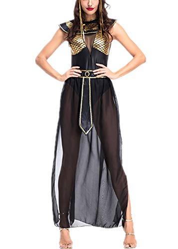 Mitef - Disfraz de adulto Reina Cléopâtre sexy diosa egipcia disfraz de Halloween negro XL