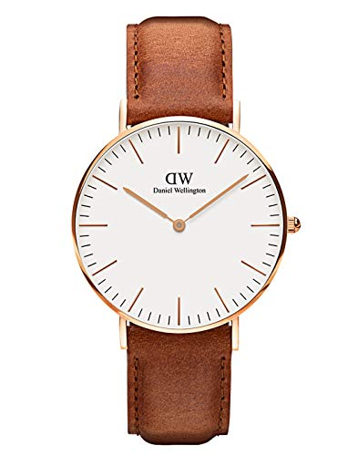 Daniel Wellington Classic Durham Rose Gold Watch, 40mm, Leather, for Men and Women
