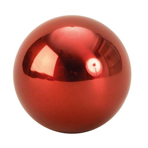 Lifestyle & More 6 Pièce Boules de décoration Moderne en Acier Inoxydable en Rouge diamètre de 6 cm