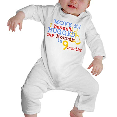 Move It I Haven't Hugged My Mommy in 9 Months Onesies Bodysuit for Baby Girl's