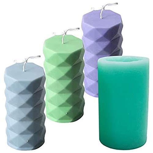 whxscsm Stampo in silicone per candele, per realizzare candele, aromaterapia, candele, sapone, cioccolato, riutilizzabile, per cena a lume di candela di Natale, 12 x 6 cm (cubo d'acqua)