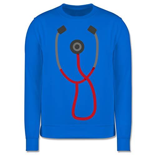 Shirtracer Karneval & Fasching Kinder - Arzt Stethoskop Kostüm - 152 (12/13 Jahre) - Himmelblau - Rettungsdienst - JH030K - Kinder Pullover