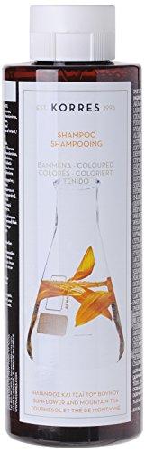 Korres Sunflower und Mountain Tea Shampoo für coloriertes Haar,1er Pack (1 x 250 ml)