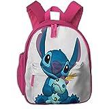 JKSA Mochilas Escolares Stitch para niñas, niños, niños, Bolsas de Escuela Primaria, Mochila, Mochila de Viaje al Aire Libre
