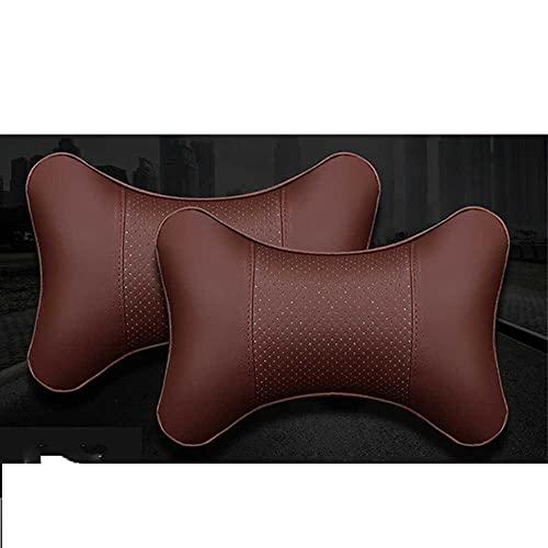 MIOAHD Almohadas para el Cuello del Coche Protector de Soporte para la Cabeza de Cuero de la PUFácil de Instalar y Limpiar Cojín del Respaldo del reposacabezas Universal