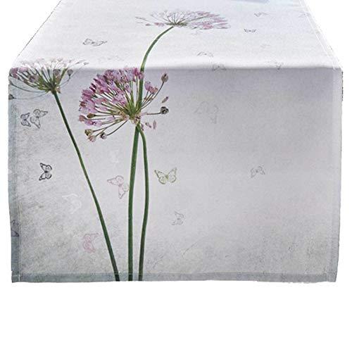 SIDCO Tischläufer Allium Tischtuch Tischband Tischdecke Frühling Schmetterling 40x150