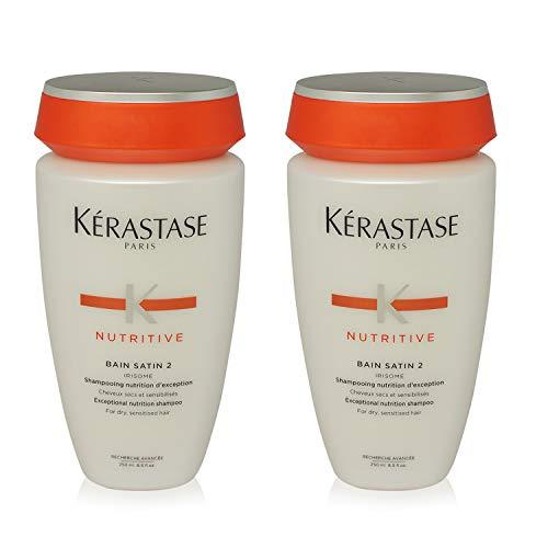 Kerastase Nutritive Bain Satin #2 Shampoo for Dry Hair - 8.5 oz - 2 pk