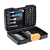 AmazonBasics Screwdriver and Nut Driver Bit Set - 48-Piece, Chrome Vanadium and S2