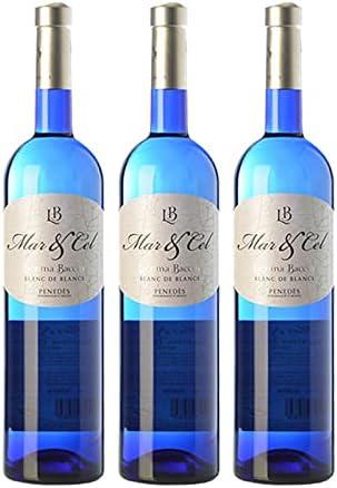 Vino Blanco Lacrima Baccus Mar&Cel Blanc de Blancs de 75 cl - D.O. Penedes - Bardinet (Pack de 3 botellas)