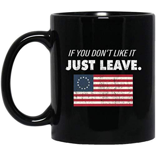 Betsy Ross als je het niet leuk vindt laat patriottische vlag Premium 11 oz. Zwarte mok