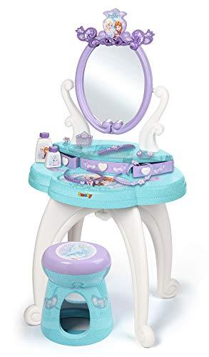 Smoby - Disney - La Reine des Neiges - Coiffeuse 2 en 1 + Tabouret - 10 Accessoires - 320224