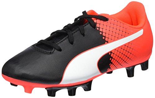 Puma Unisex EVO Speed 5.5 JR FG 103629 Fußballschuhe, Schwarz Black White-Red Blast 03, 38