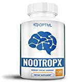 NootropX Advanced Nootropic Brain Supplement, Clinically Effective Doses, Memory and Focus Enhancement Formula, Alpha GPC, Ginkgo, Ginseng, DMAE, Theanine, Huperzine A, ALCAR (120 Capsules)