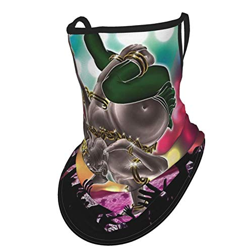 Mystic Decor Eastern Indian Elephant God Meditating On Stage In Concert Area With People Image Es Multiear Hangers Uv Protection Neck Gaiter Scarf, Outdoor Headband For Fishing Cycling Hiking