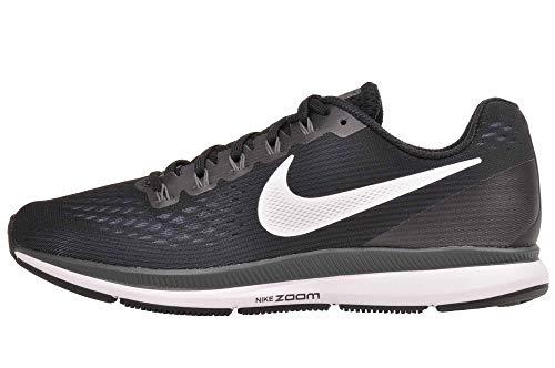 Nike Air Zoom Pegasus 34 Wide Womens Running Shoes, Black/White/Dark Grey/Anthracite, (8.5 W US)