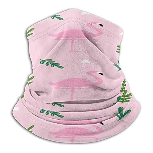 vfgty369 Máscara facial unisex de microfibra con diseño de flamencos rosados, para el cuello, para exteriores, multifuncional, bufanda, pasamontañas
